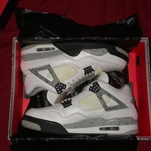 Air Jordan White Cement 4s 2016 ( 89' Nike Air)